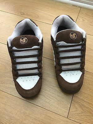 Dvs Shoes Contra Skate With Stash Pocket Brown White Size 10