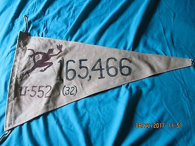 Wwii German U-Boat Erich Topp U-552 Red Devil 32 Ship 165,466 Ton  Victory Flag