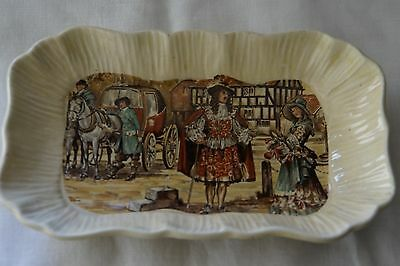 "Tray Lancasters Ltd Hanley England English ware ""ye olden days"""
