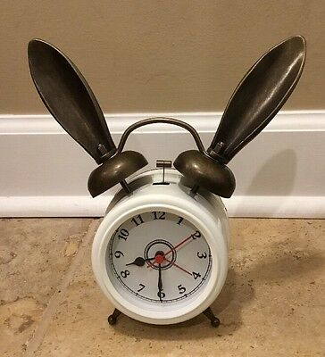 NEW Pottery Barn Teen Emily & Meritt The Bunny Alarm Clock WHITE