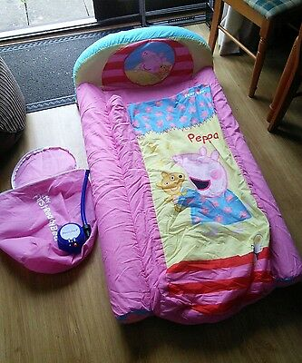Peppa Pig Ready bed childrens blow up camping sleep over bed with bag and pump