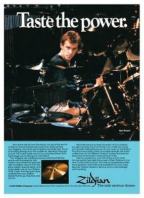 Neil Peart  **POSTER**  Zildjian Cymbals Moving Pictures era PROMO AD