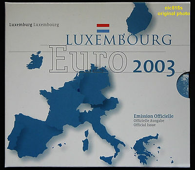 LUXEMBOURG, official EURO mint set 2003, brilliant uncirculated (BU)