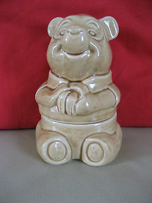 Winnie The Pooh Pottery Honey Pot / Storage Jar 1987 Walt Disney