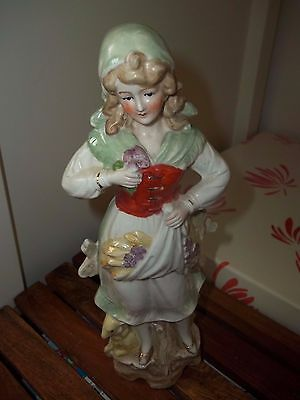Porcelain Lady Figurine Marked Germany 871