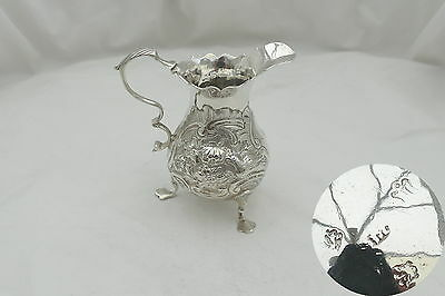 Rare George Ii Hm Sterling Silver 3 Footed Cream Jug 1746