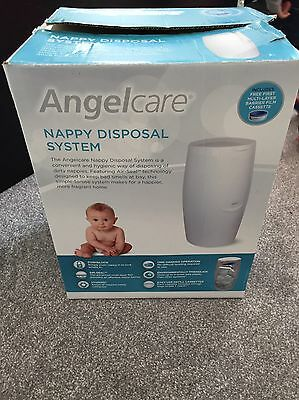 Angelcare Nappy Disposal System - Frustation-Free Packaging, Hygienic Nappy Bin
