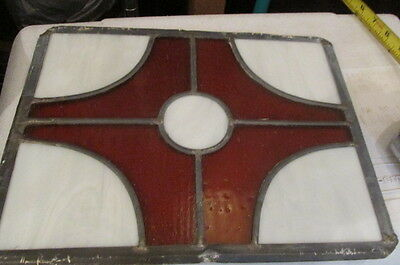 (3) Matching Vintage Stained Glass Window or Panels or Inserts
