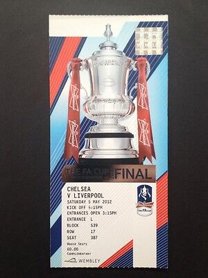 FA Cup Final 2012 Ticket