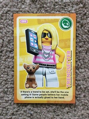 Lego Create The World Individual Card. Number 99: Trendsetter. Sainsbury's.