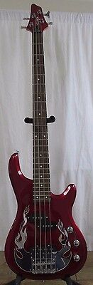 OLP Traben  4 string Electric Bass Sparkle Red Finish Right Hand