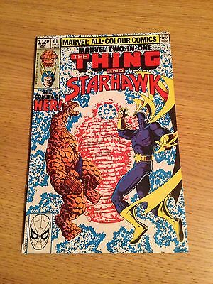 Marvel Two-in-One #61  1st Appearance Of Kismet as Her GOTG 2 Movie 1979