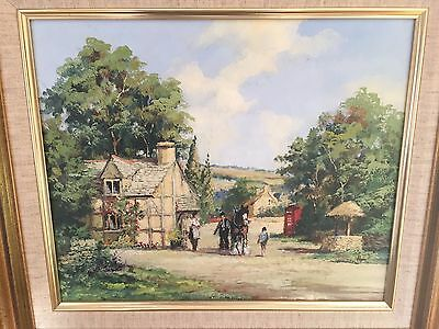 Original Oil Painting On Canvass By Alan King Of Malvern