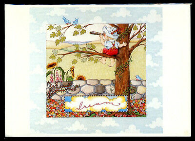 UNUSED 1986 Mary ENGELBREIT FRIENDSHIP Greeting Card DREAM, BOY IN A TREE  +env