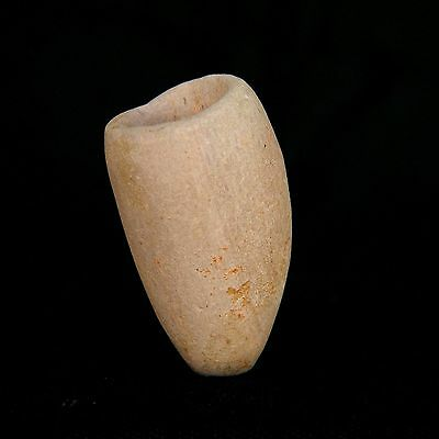 TRUE ! Ancient SMOKING PIPE made from SANDSTONE - 34 mm LONG