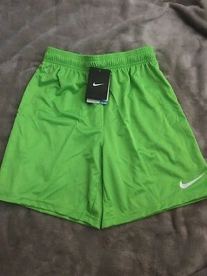 Nike Dri-fit Boys, Bright Action Green Shorts Size Large Age 12-13 Yrs NEW