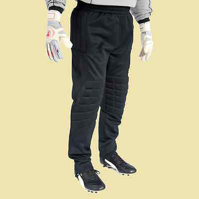 New Football goalkeeper padded pants trousers Size: Large Black 5d