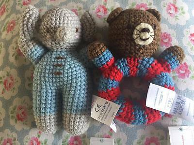Cath Kidston Cath Kids  Knitted Rattle Baby Toy and Elephant NEW