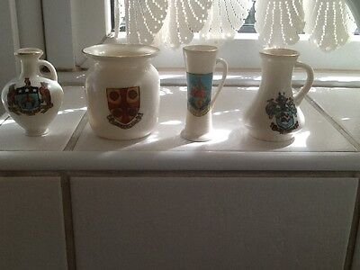 4 Pieces of GOSS Crested China