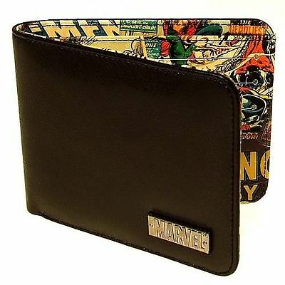 Marvel Retro Collection Wallet Comic Book Interior BBDesigns Black
