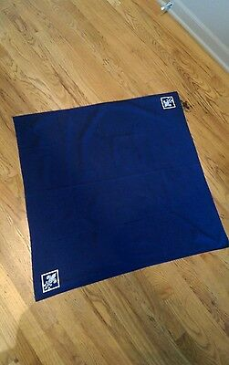 "Vintage Original Trifold Boy Scouts Navy Blue Neckerchief - 30"" x 30"""