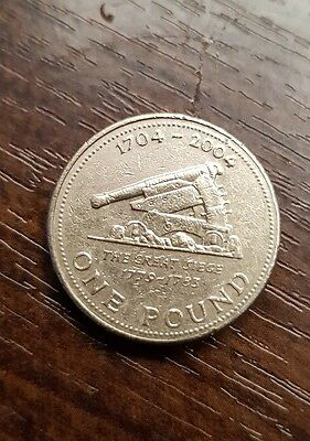 £1 coin Gibraltar The Great Seige 2004 Gibraltar one pound coin