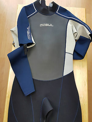 Gul Mens Wetsuit Blue Black Xl Chest 112-117 Cm 44-46 In