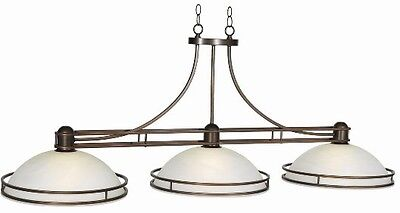 Pool Billiard Table Light Cosmopolitan Glass Shade w/ Bronze Finish COS-B56 BZ