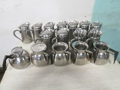 Lot Of (16) Assorted Heavy Duty Commercial Ss Hot/cold Beverage Servers/pitchers