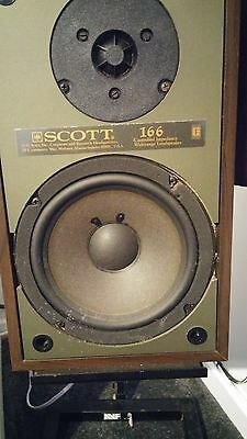 scott 166 hi-fi speakers with stands