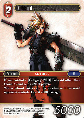 x3 Cloud - 1-009C COMMON - NM - Final Fantasy TCG - OPUS 1