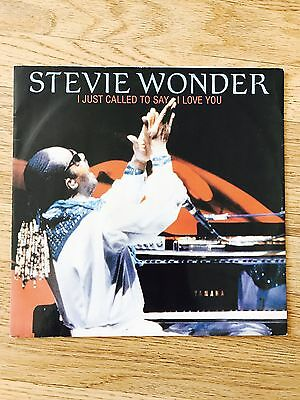 Stevie Wonder - I Just Called To Say I Love You 12 Inch Record Rare