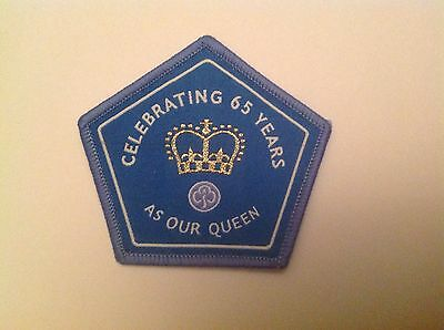 Girl Guiding Queens 65 Years (sapphire) Badge