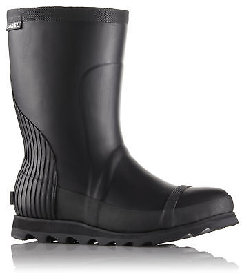 Sorel Joan Rain Short Boot, Womens, Black, Sea Salt, 10