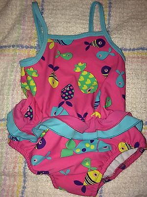 Girls Baby Size Xl Up To 24 Months Swimsuit With Built In Nappy By Mothercare