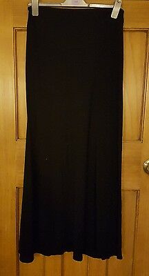 Heavenly Bump Maternity Black Over Bump Maxi Skirt Size 10 Excellent
