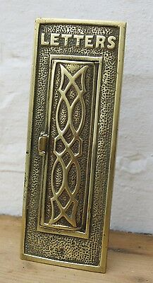 Antique / Victorian BRASS VERTICAL Letter Box (READY TO FIT)