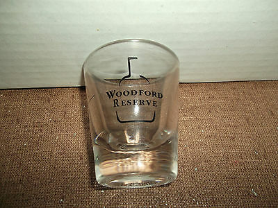 Collectible Advertising Barware Shot Glass - Woodford Reserve Bourbon Whiskey