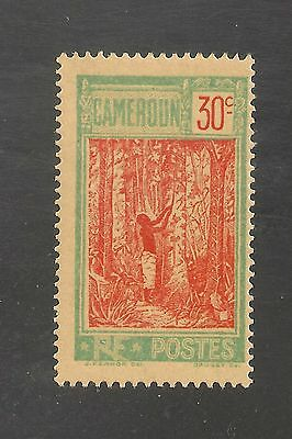 Cameroun #181 VF MINT LH OG - 1925 30c Native Tapping Rubber Tree