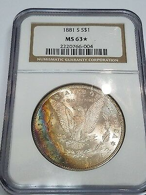 1881 S$1 Ngc Ms63 Us Silver Dollar Coin