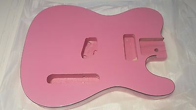 Telecaster guitar body pink with binding brand new