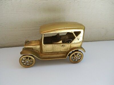"""Vintage Solid  Brass Made In Canada Heavy Old Timer Car 6 1/4"""" # 3"""