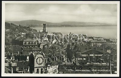 Real photo postcard - Vue Generale - NEUCHATEL - Switzerland