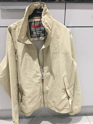 SLAM Men's Lightweight Full Zip Beige Sailing Jacket - UK Size M