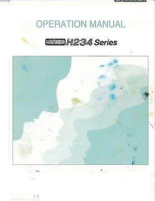 Hamada H234 series Operaring Manual (053)