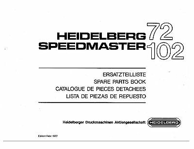 Heidelberg Speed Master 72 102 Parts Manual (013)