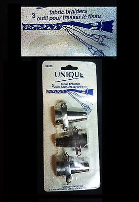 FABRIC BRAIDERS Metal Tool 3 Pack New in Package by Unique