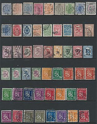 Finland Estate Collection - about 166 different used stamps see all 4 pictures