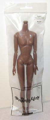 New Dynamite Girls Doll Body Only FR Black Skin Tone Integrity Fashion Royalty