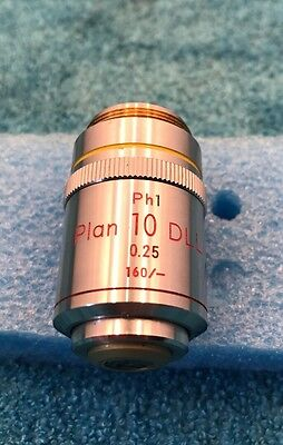 Nikon Plan 10x /0.25 160/- Ph1 DLL Phase Contrast Microscope Objective Lens